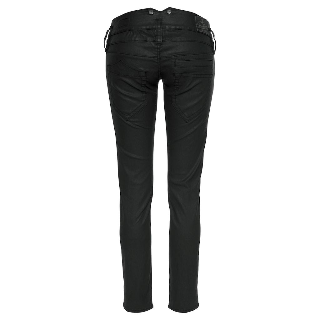 Herrlicher Slim-fit-Jeans »PITCH SLIM«, in Leder-Optik