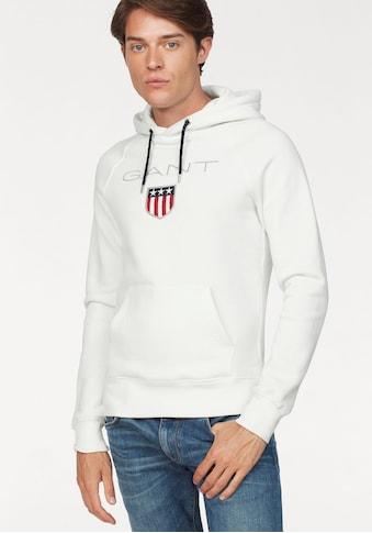 Gant Kapuzensweatshirt »Shield Sweat Hoodie«, plakative GANT-Stickerei kaufen