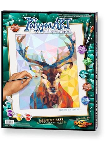 Schipper Malen nach Zahlen »Meisterklasse Premium - Polygon-Art Hirsch«, Made in Germany kaufen