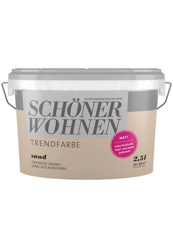 SCHÖNER WOHNEN-Kollektion Wand- und Deckenfarbe »Trendfarbe Sand, matt«, 2,5 l kaufen