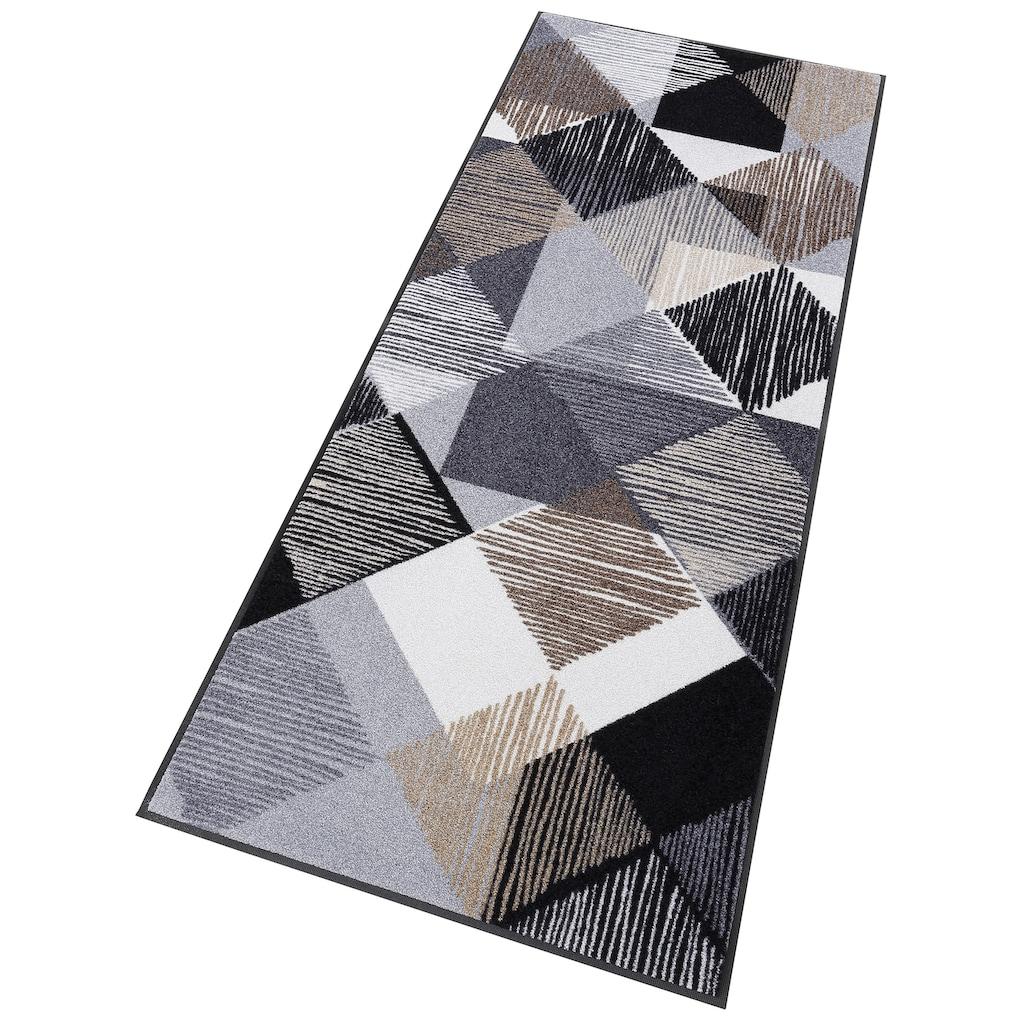 wash+dry by Kleen-Tex Läufer »Lines and Boxes«, rechteckig, 7 mm Höhe, In- und Outdoor geeignet, waschbar