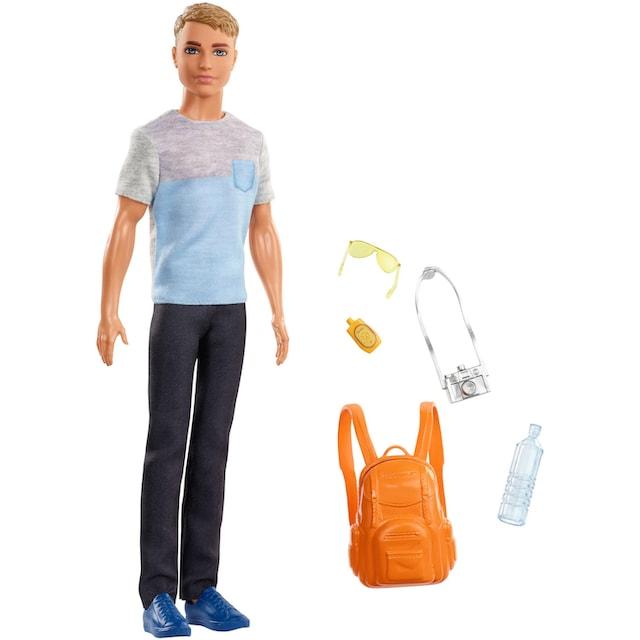 """Mattel® Anziehpuppe """"Barbie Ken Reise Puppe, blond mit Zubehör"""""""