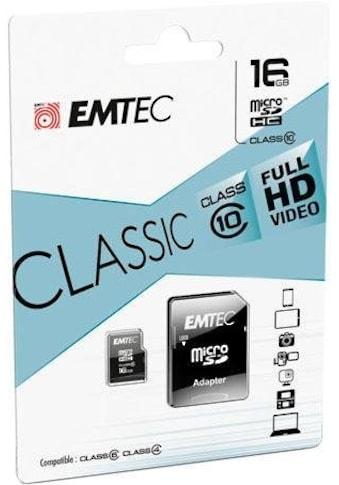 EMTEC Speicherkarte »microSD Class10 Classic«, ( Class 10 30 MB/s Lesegeschwindigkeit) kaufen