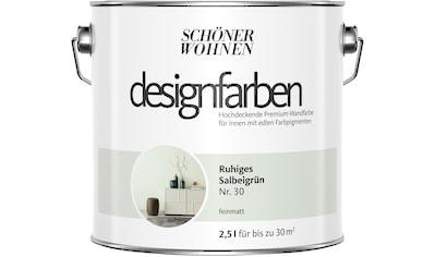 SCHÖNER WOHNEN FARBE Farbe »Designfarben«, Ruhiges Salbeigrün Nr. 30, feinmatt 2,5 l kaufen