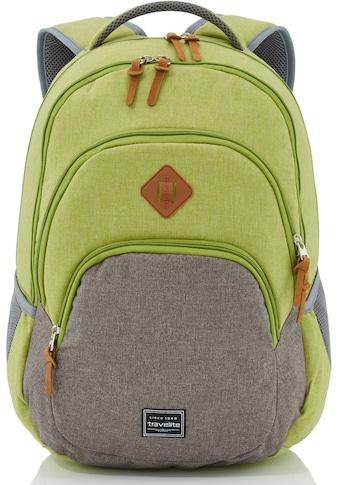 travelite Cityrucksack »Basics Melange, grün/grau«, mit Laptopfach kaufen