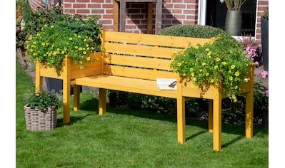 DOBAR Gartenbank mit seitlichen Pflanzkästen, BxTxH: 211x64x92 cm kaufen