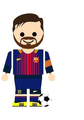 Wall-Art Wandtattoo »Spielfigur Fussball Messi« kaufen
