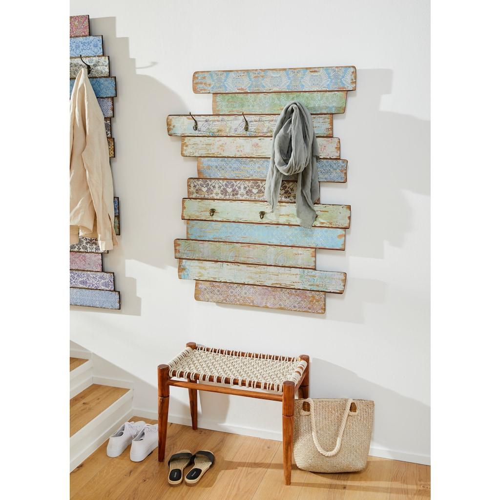 Home affaire Garderobenpaneel »Emma«, Garderobe mit Kleiderhaken, Pastell-Farben, Shabby Look