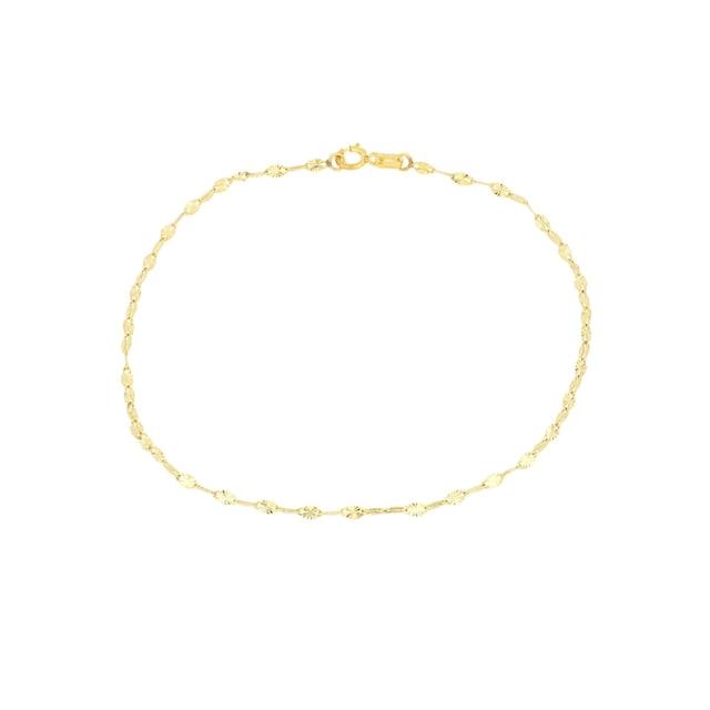 Firetti Goldarmband »Ankerkettengliederung, 1,85 mm breit, glanz, sternendiamantiert, flach«