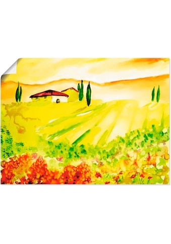 Artland Wandbild »Licht der Toskana«, Felder, (1 St.), in vielen Größen & Produktarten... kaufen