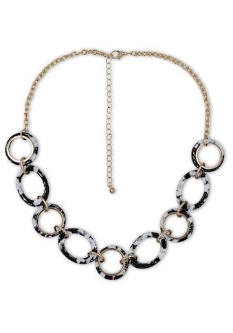 J.Jayz Collier »Ankerkettengliederung vergoldet, schwarz weiß Ringe« kaufen