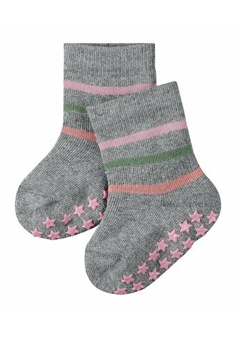 FALKE Socken »Multi Stripe«, (1 Paar), Vollplüsch-Strumpf aus Baumwolle kaufen