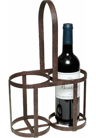 Ambiente Haus Flaschenträger, 37 cm, antikbraun kaufen
