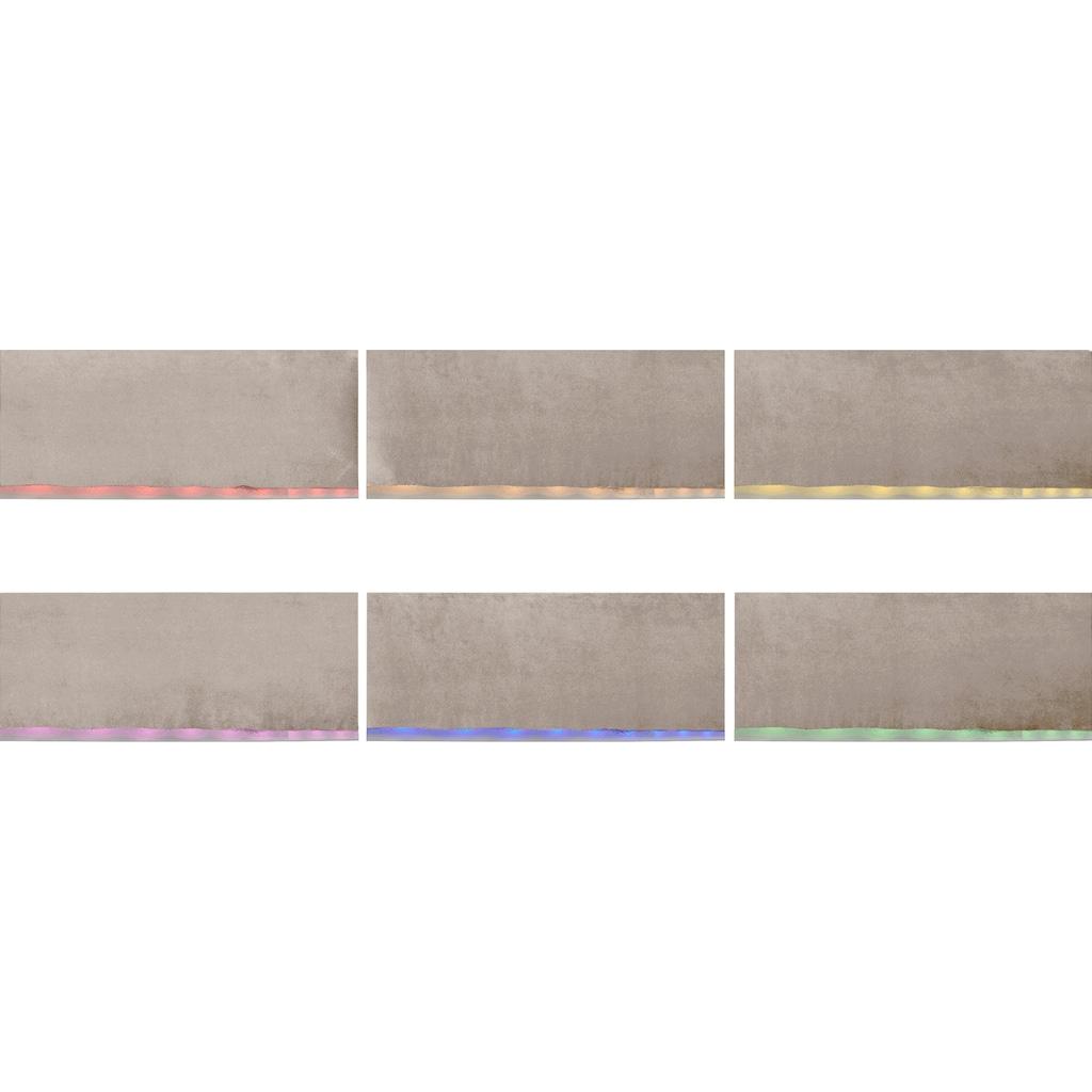 COTTA Polstergarnitur »Komaris«, (Set), Set: bestehend aus Wohnlandschaft und Hocker, Sofa inklusive Kopfteilverstellung, wahlweise mit Bettfunktion und RGB-LED-Beleuchtung