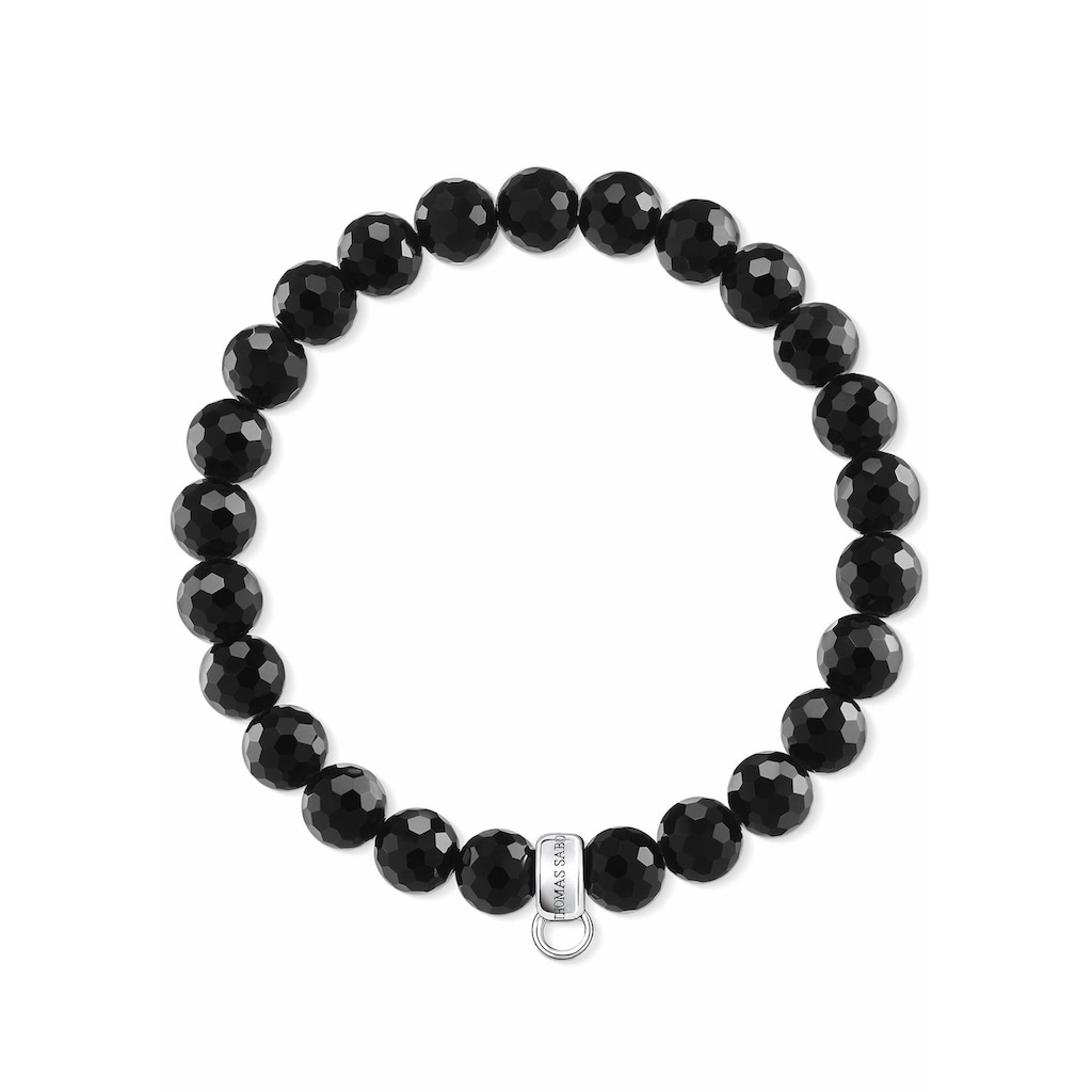 THOMAS SABO Charm-Armband »Schwarz, X0220-840-11-L«, mit Obsidian