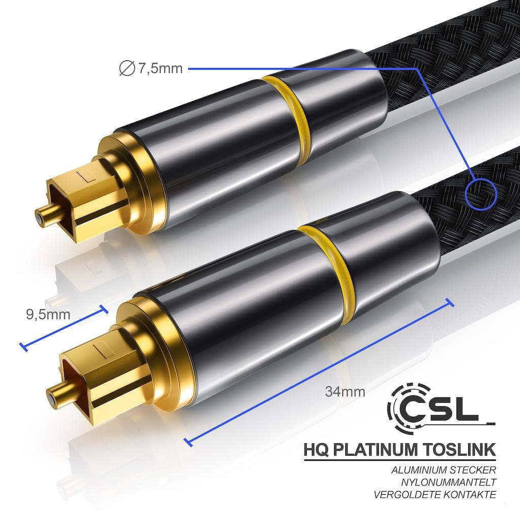 CSL Toslink Kabel mit Metallstecker und Nylonmantel »Lichtwellenleiter / Optisches Audiokabel«