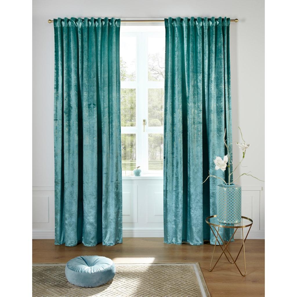 Guido Maria Kretschmer Home&Living Vorhang »Jasmina«, blickdicht, Samtoptik, monochrom