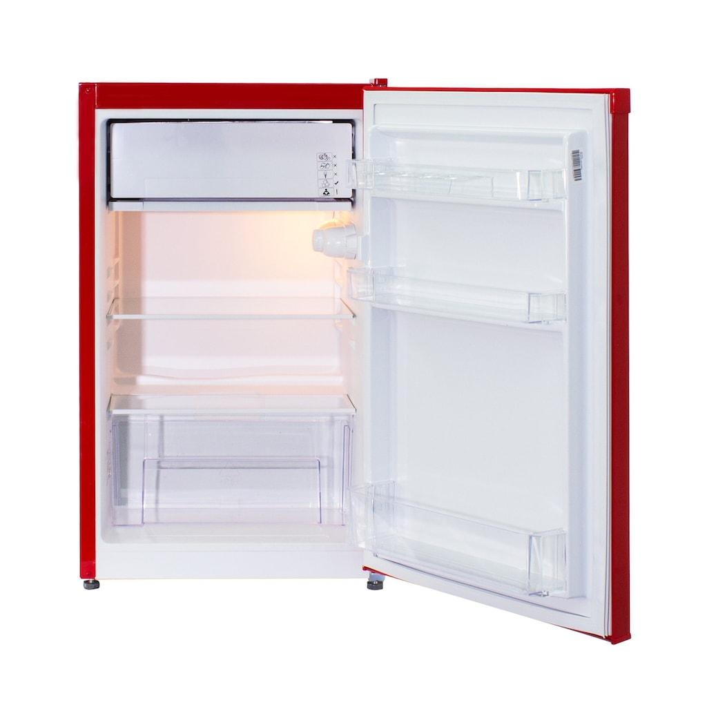 Telefunken Kühlschrank »CF-33-100-R«, CF-33-100-R, 82.1 cm hoch, 48 cm breit, (88 Liter / rot)