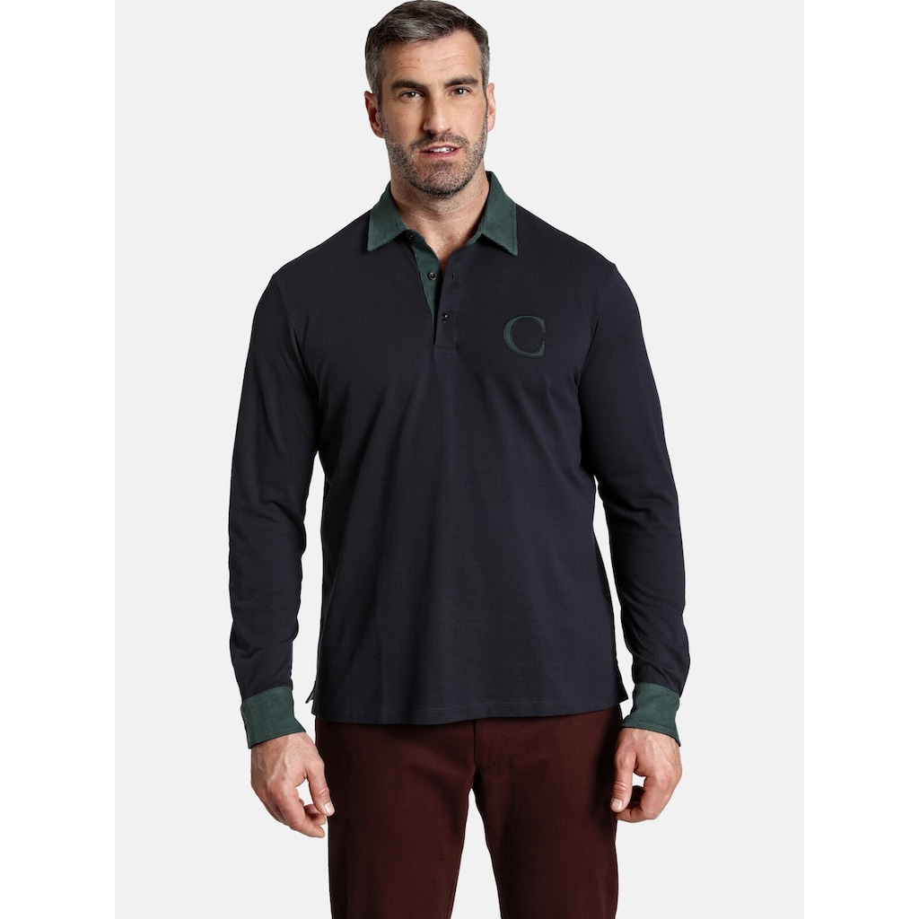 Charles Colby Langarm-Poloshirt »DUKE BLAKE«, Highlights aus Feincord
