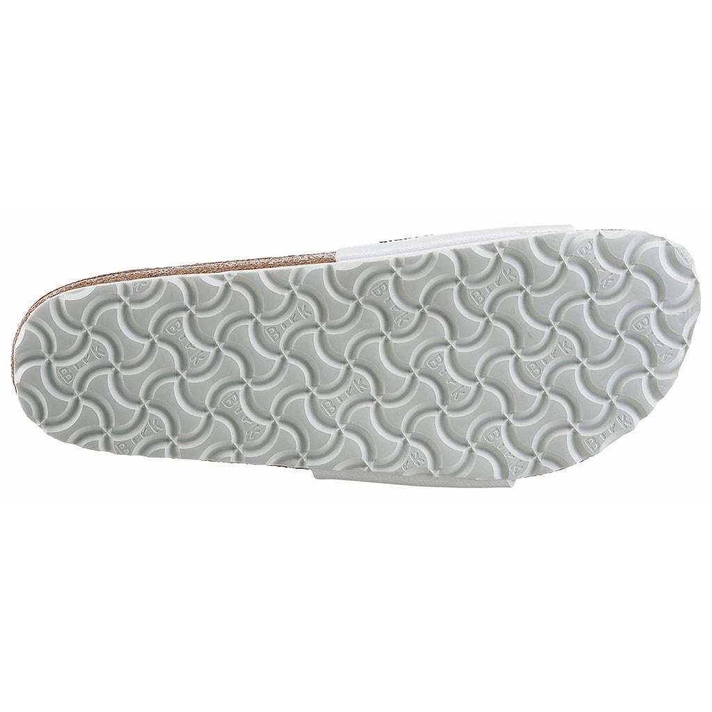 Birkenstock Pantolette »MADRID«, in schmaler Schuhweite, mit ergonomisch geformtem Fußbett