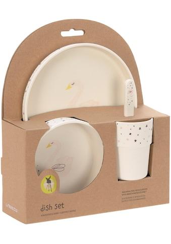 LÄSSIG Kindergeschirr-Set »Little Water, Swan«, (4 tlg.) kaufen