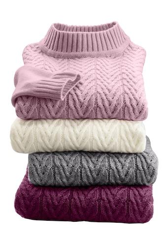 Classic Basics Pullover mit schönem Zopfmuster kaufen