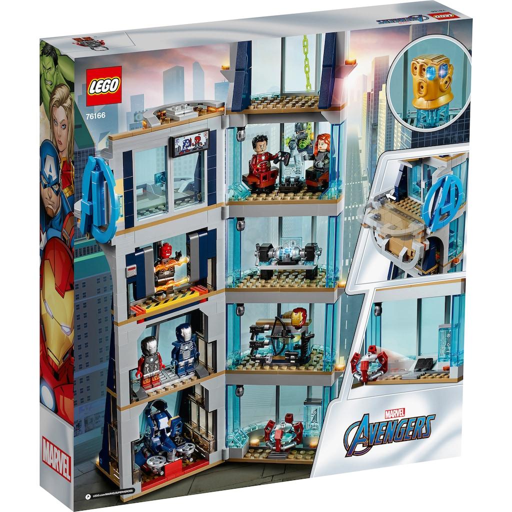 LEGO® Konstruktionsspielsteine »Avengers – Kräftemessen am Turm (76166), LEGO® Marvel Avengers Movie 4«, (685 St.), Made in Europe