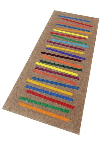 wash+dry by Kleen-Tex Läufer »Mixed Stripes«, rechteckig, 9 mm Höhe, In- und Outdoor... kaufen