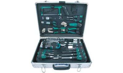 BRUEDER MANNESMANN WERKZEUGE Werkzeugkoffer »Alu - Werkzeugkoffer«, Maße (B/H) 35x13,5 cm, 124 - tlg. kaufen