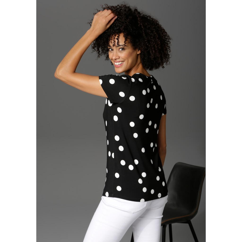 Aniston CASUAL T-Shirt, mit Punkten bedruckt