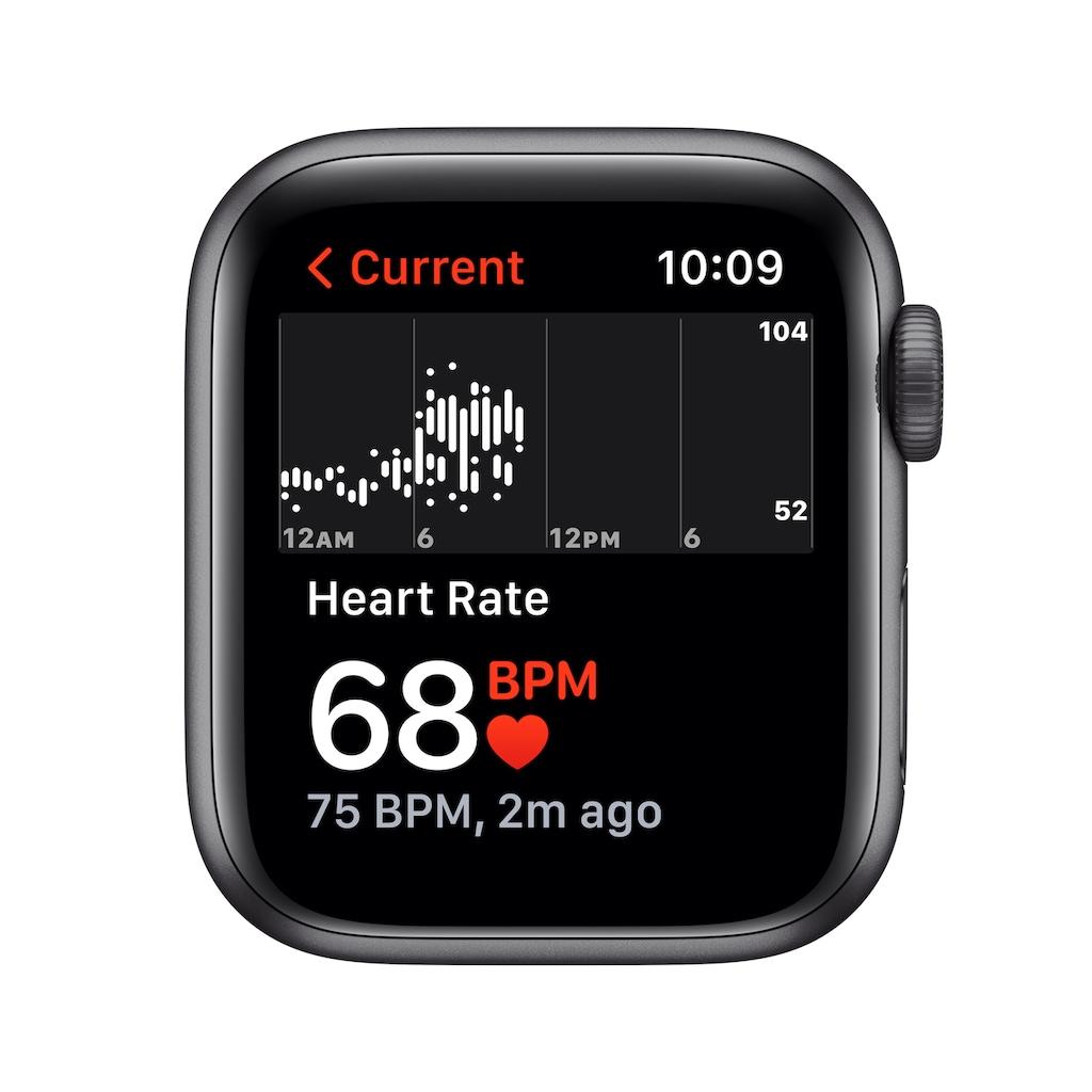 Apple Smartwatch »Series SE, GPS + Cellular, Aluminium-Gehäuse, 44 mm mit Sport Loop«, (Watch OS 7)