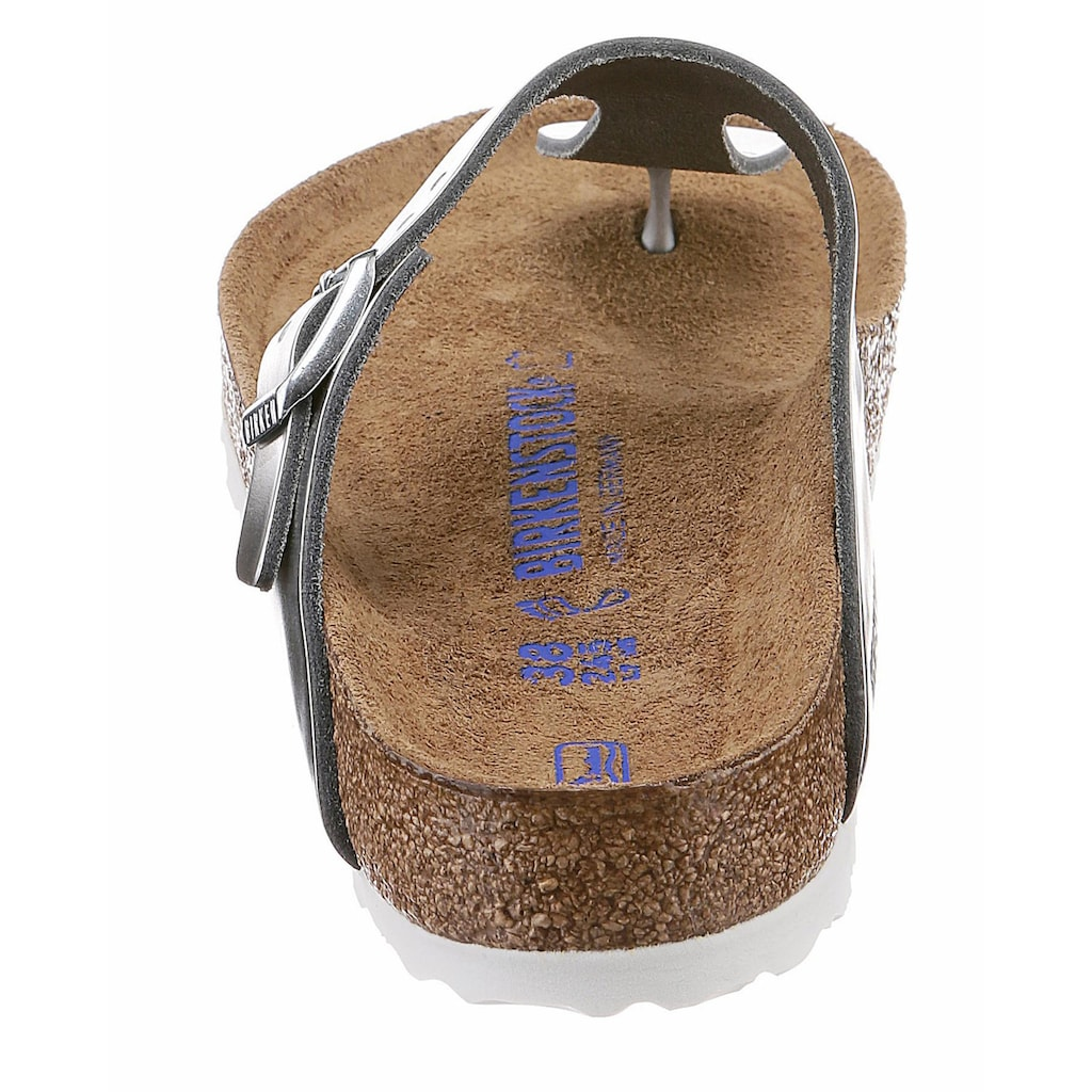 Birkenstock Zehentrenner »GIZEH«, aus Leder, in Glanz-Optik