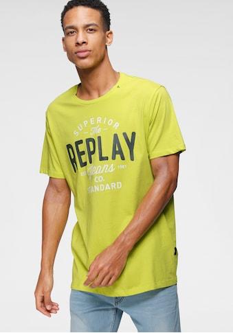 Replay T-Shirt, mit Markendruck kaufen