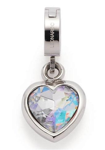 LEONARDO Charm-Einhänger »Herz, Anni Clip&Mix, 018758«, mit Glassteinen kaufen