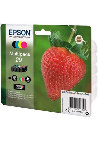 Epson Tintenpatrone »T2986, 29 Original Kombi-Pack Schwarz, Cyan, Magenta, Gelb... kaufen