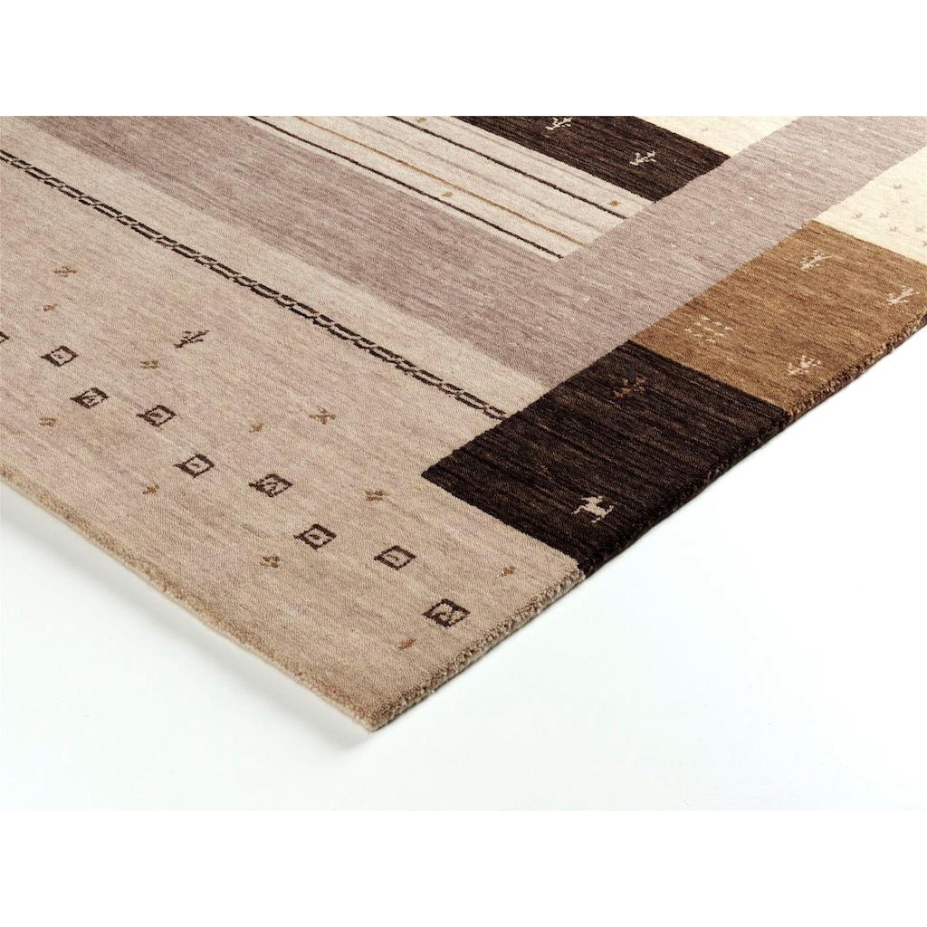 OCI DIE TEPPICHMARKE Wollteppich »Loriba Nature«, rechteckig, 14 mm Höhe, reine Wolle, handgeknüpft, Wohnzimmer