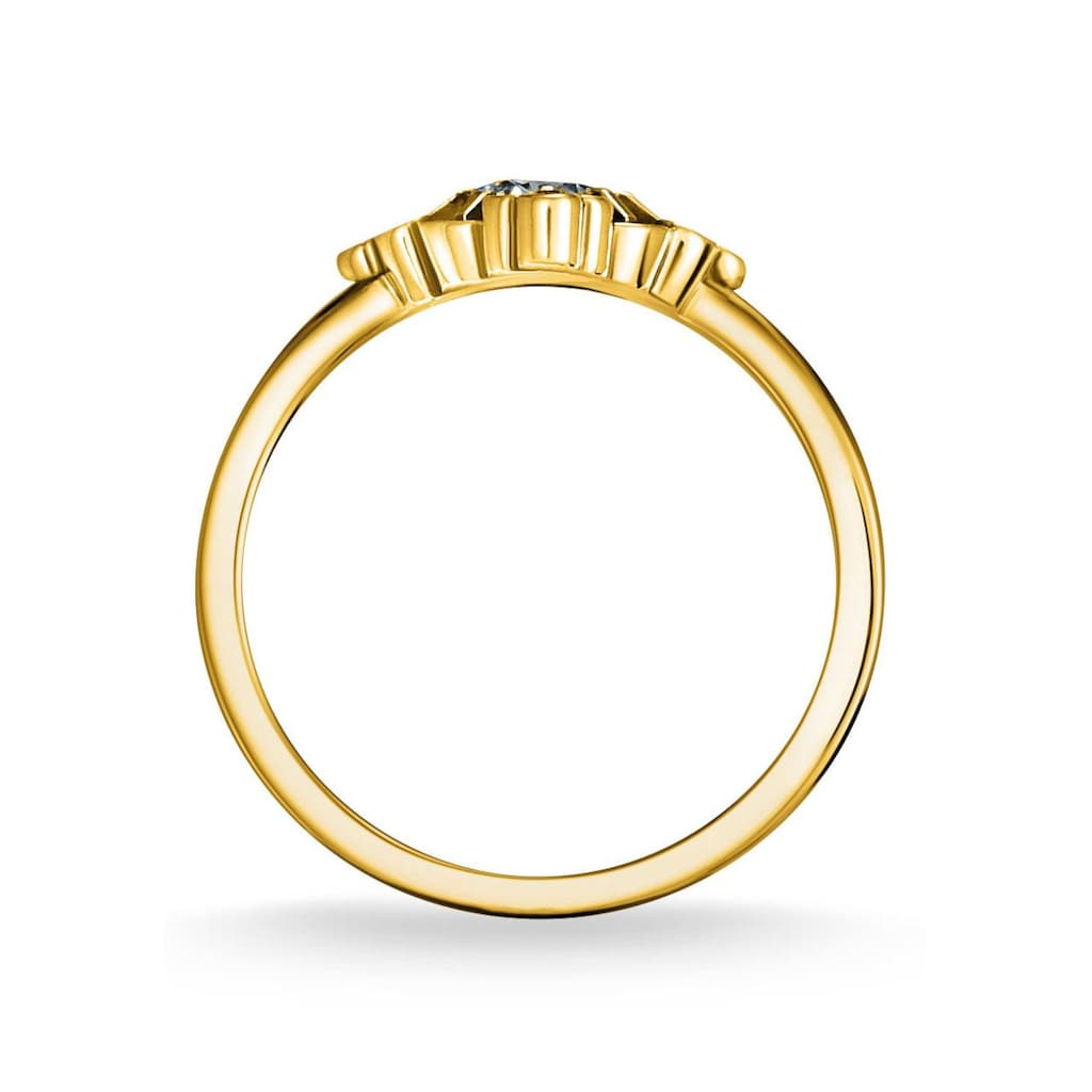 THOMAS SABO Fingerring »Royalty gold, TR2221-960-7-48, 50, 52, 54, 56, 58, 60«, mit Spinell (synth.) und Glasstein