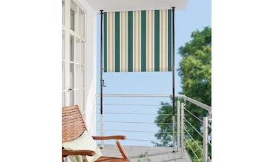 ANGERER FREIZEITMÖBEL Klemm - Senkrechtmarkise »Nr. 8700«, grün/beige, BxH: 120x275 cm kaufen