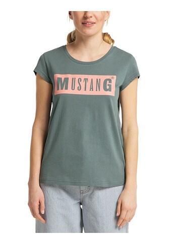 MUSTANG T-Shirt »Alina C Logo Tee«, Kurzarm kaufen