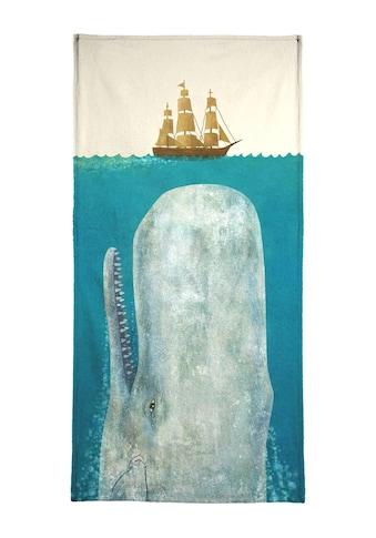 Juniqe Handtuch »The Whale«, (1 St.), Weiche Frottee-Veloursqualität kaufen