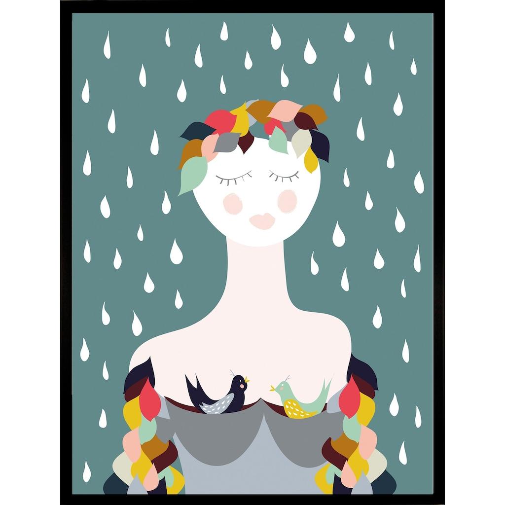 G&C Kunstdruck »Rainy Lady«, 33/43 cm, gerahmt