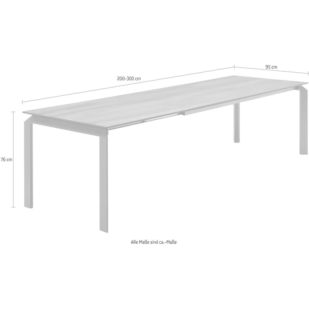 GWINNER Esstisch »Misano«, wahlweise mit Auszugsfunktion, Breite/Tiefe 200/95 cm