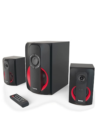 Hama 2.1 Soundsystem m. Fernbedienung/Bluetooth/USB/SD für PC/TV »Lautsprecher System, 80 W« kaufen