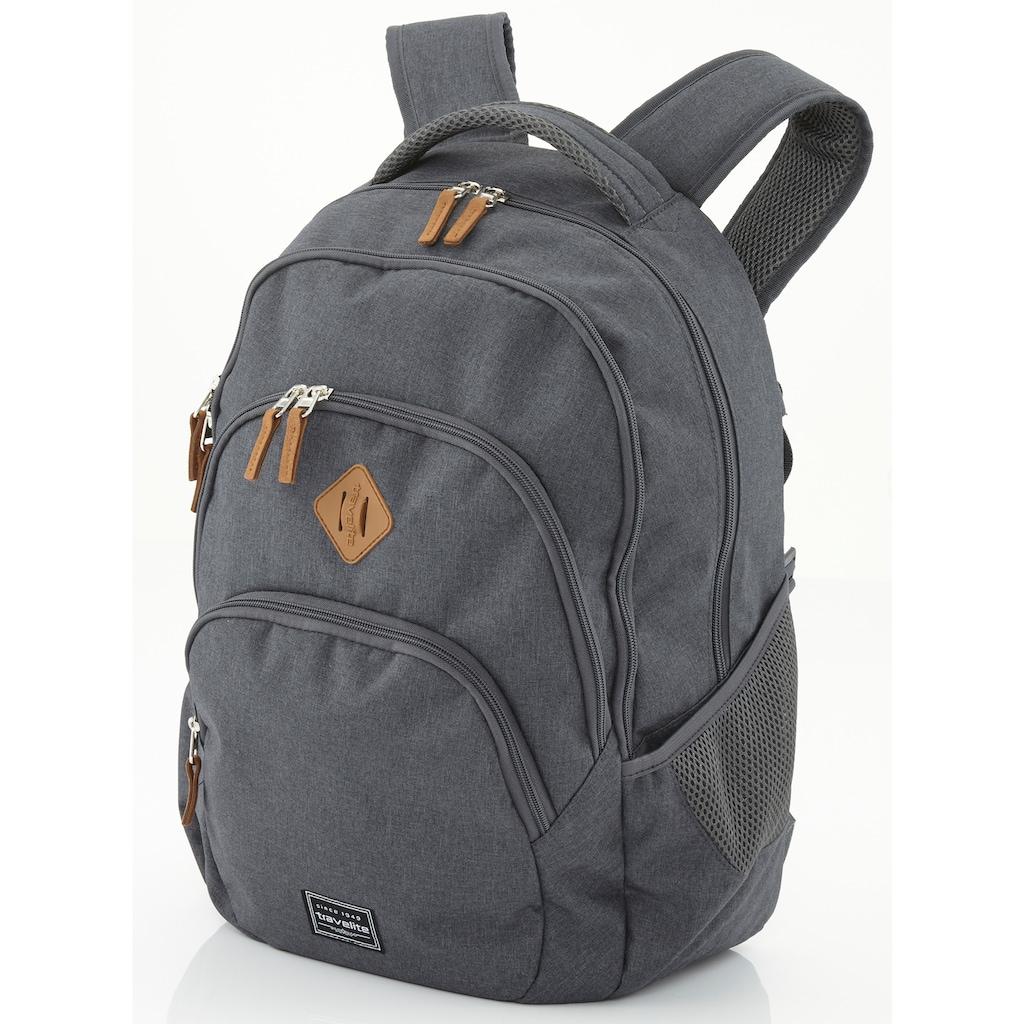 travelite Cityrucksack »Basics Melange, anthrazit«, mit Laptopfach