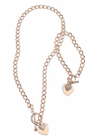J.Jayz Schmuckset »Herz«, mit Glassteinen kaufen