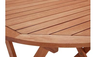 MERXX Gartentisch »Borkum«, Eukalyptusholz, klappbar, Ø 100 cm, braun kaufen