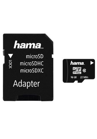 Hama microSDHC 16 GB Class 10, 22 MB/s + Adapter/Foto »inkl. SD - Karten Adapter« kaufen