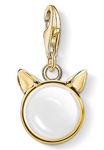 THOMAS SABO Charm-Einhänger »Katzenohren gold, 1841-413-14«, mit Quarz kaufen