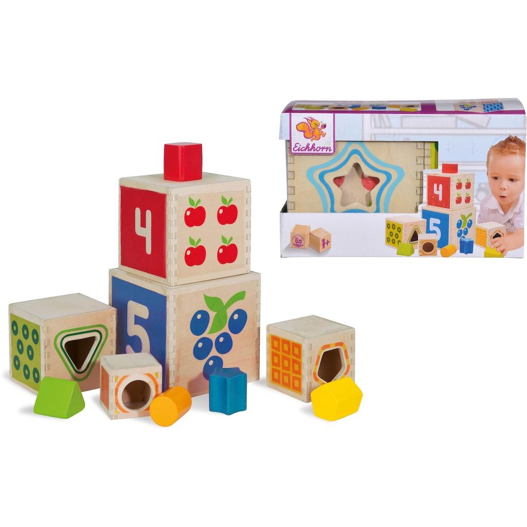 Eichhorn Stapelspielzeug »Eichhorn Color, Steckturm«, aus Holz
