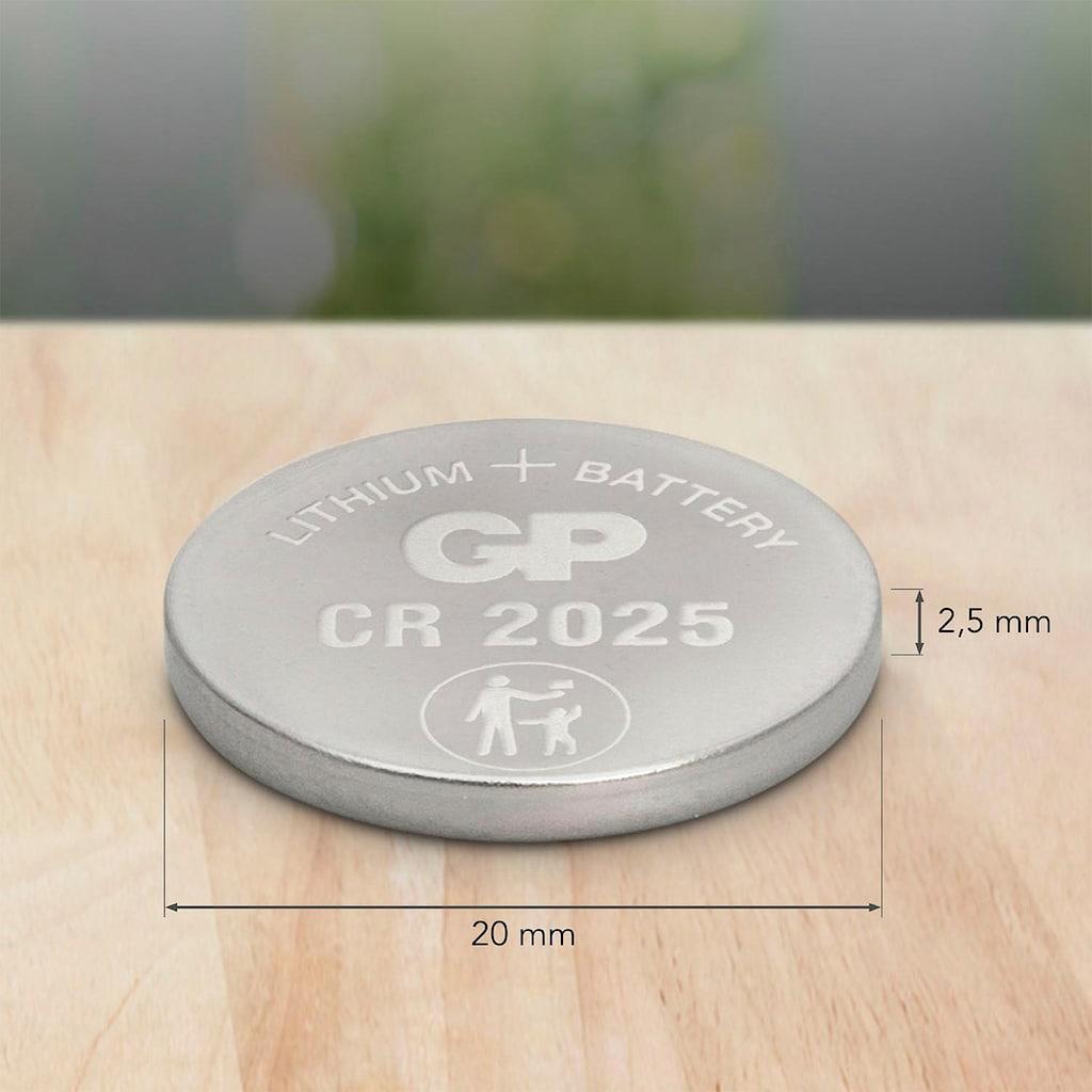 GP Batteries Knopfzelle »CR2025 Lithium«, CR2025, 3 V, (Set, 5 St.)